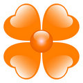 Orange flower illustration Royalty Free Stock Photo