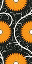 Orange flower seamless pattern Stock Photo
