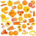 Orange food collection Stock Photography