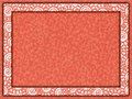 Orange frame with floral insert and paper background Royalty Free Stock Photo