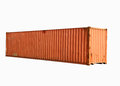 Orange freight container isolated on white Stock Photography