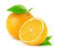 Orange fresh oranges over white background Royalty Free Stock Photos