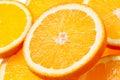 Orange fruit background slices Stock Images