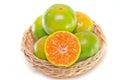 Orange fruit with half view isolated on white background other names are les oranger sweet citrus sinensis citrus aurantium citrus Stock Image