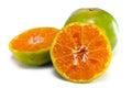 Orange fruit with half view isolated on white x other names are les oranger sweet citrus sinensis citrus aurantium citrus maxima Stock Photos
