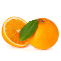 Orange fruit isolated on white Stock Photo