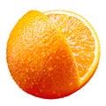Orange fruit isolated on white Stock Photos