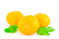 Orange fruit isolated on white background Royalty Free Stock Images