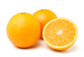 Orange fruit isolated on white background Stock Photography