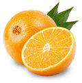 Orange fruit isolated on white background clipping path Royalty Free Stock Photos