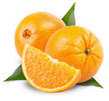 Orange fruit isolated on white background clipping path Royalty Free Stock Images