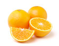 Orange fruit isolated on white background fresh Stock Images
