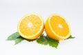 Orange fruit slice isolated Royalty Free Stock Photo