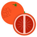 Orange fruit  with sliced flesh icon, vector illustration Royalty Free Stock Photo