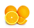 Orange fruit sliced isolated on white background Stock Image