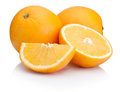 Orange fruit sliced isolated on white background a Stock Photography