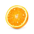 Orange fruit with water drops isolated on white background Royalty Free Stock Photography