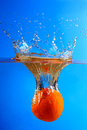 Orange fruits with Splashing water Stock Image