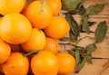 Orange fruits in wooden box Royalty Free Stock Photo