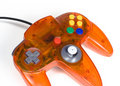 Orange Game Controller Close-up Royalty Free Stock Images