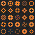 Orange gear wheel icons Royalty Free Stock Photo