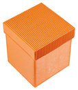 Orange gift box Royalty Free Stock Photo