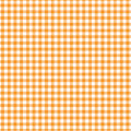 Orange gingham qrane old fashioned design with pattern Stock Image