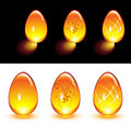 Orange Glass Eggs Royalty Free Stock Photo