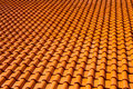 Orange glazed terracotta roof tiles Royalty Free Stock Photo