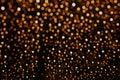 Orange Glitter background bokeh light Royalty Free Stock Photo