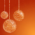 Orange glitter balls Stock Photo