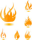 Orange glossy fire Stock Photo
