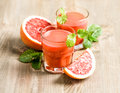 Orange grapefruit juice fresh fruits Healthy food drinks Royalty Free Stock Photo