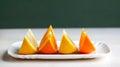Orange and grapefruit slices Stock Photos