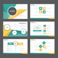 Orange green Abstract presentation template Infographic elements flat design set for brochure flyer leaflet marketing Royalty Free Stock Photo