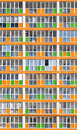 Orange and Green Modern Housing Apartments Royalty Free Stock Photo