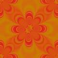 Orange Groovy Seamless Pattern Royalty Free Stock Photo