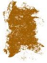 Orange Grunge Square Stock Image