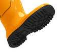 The orange gumboot d generated picture of an Royalty Free Stock Image