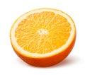 Orange half of fruit on white background Stock Images