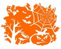 Orange halloween background Stock Images
