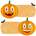 Orange halloween tags new isolated on white Stock Photos