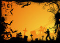Orange Halloween Theme Royalty Free Stock Images
