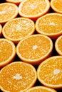 Orange halves background  on black Royalty Free Stock Photo