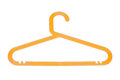 Orange hanger isolated on a white background Stock Image