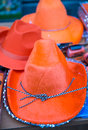 Orange hats in amsterdam Royalty Free Stock Photography