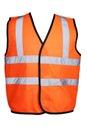 Orange hi viz vest product picture for construction workwear safety clothing Stock Photography