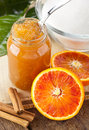Orange homemade jam Stock Photography