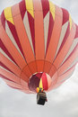 Orange Hot Air Balloon in the sky Royalty Free Stock Photo
