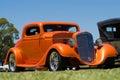 Orange Hot Rod Car Stock Photography